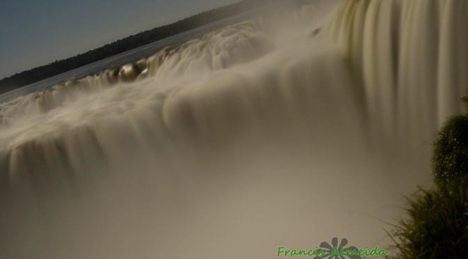 Full moon at Iguassu Falls