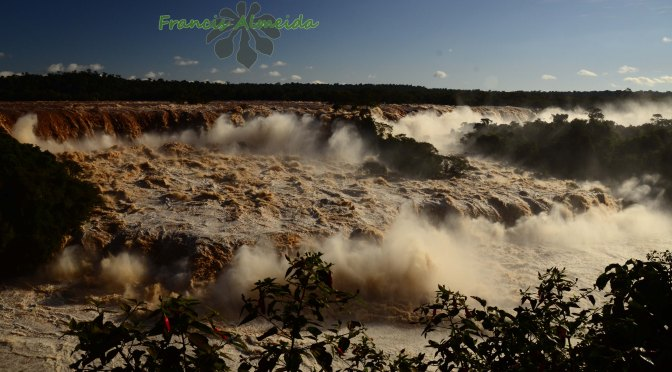 Flood big Flood at Iguassu Falls